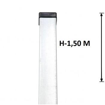 Słupek Ogrodzeniowy Panelowy 60x40 mm Ocynkowany Wys. 1,5 m