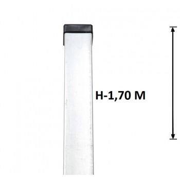 Słupek Ogrodzeniowy Panelowy 60x40 mm Ocynkowany Wys. 1,7 m