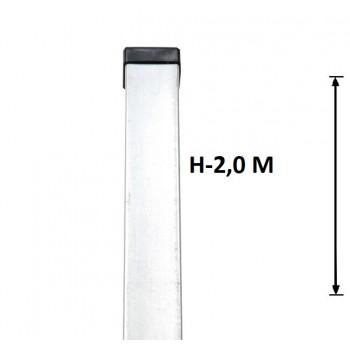 Słupek Ogrodzeniowy Panelowy 60x40 mm Ocynkowany Wys. 2,0 m