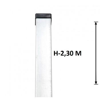Słupek Ogrodzeniowy Panelowy 60x40 mm Ocynkowany H-2,3 m