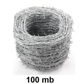 Drut Kolczasty Ocynk 100 mb