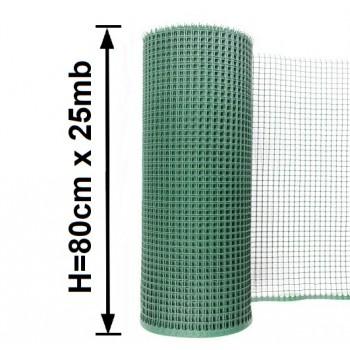 Siatka Ogrodzeniowa Rabatowa Plastikowa, Wys. 0,80 m x 25 m