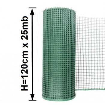Siatka Ogrodzeniowa Rabatowa Plastikowa, H-1,20m x 25mb