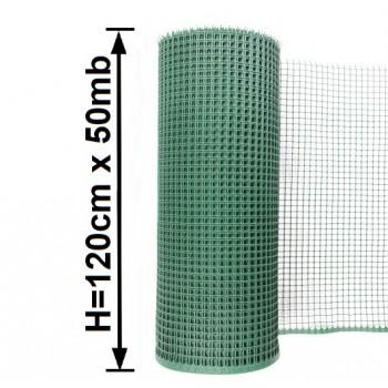 Siatka Ogrodzeniowa Rabatowa Plastikowa, H-1,20m x 50mb