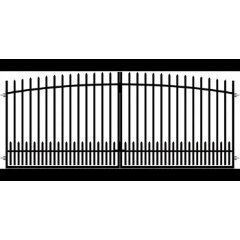 Brama Ogrodzeniowa Skrzydłowa Klasyczna Typ KŁZ H145cm-160 cm