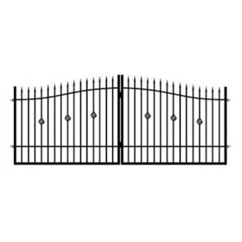 Brama Ogrodzeniowa Skrzydłowa Klasyczna Typ Nikozja H-130-150 cm