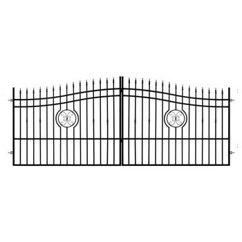 Brama Ogrodzeniowa Skrzydłowa Klasyczna Typ Monako H 1,40-1,60 m