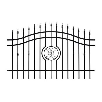 Brama Ogrodzeniowa Skrzydłowa Klasyczna Typ Monako H 1,40-1,60 m #3