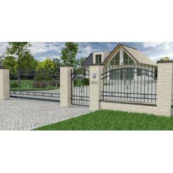 Brama Ogrodzeniowa Skrzydłowa Klasyczna Typ Wenecja H 1,40-1,60 m #4