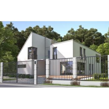 Brama Ogrodzeniowa Skrzydłowa Nowoczesna Typ BAKU H 1,50 m #5