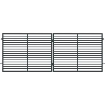 Brama Ogrodzeniowa Skrzydłowa Nowoczesna Typ BERNO H 1,50 m