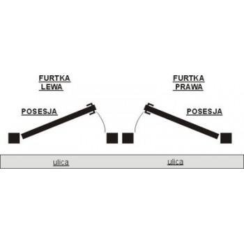 Furtka Ogrodzeniowa Klasyczna Zagęszczona Typ KŁZ H 145 cm-160 cm #3