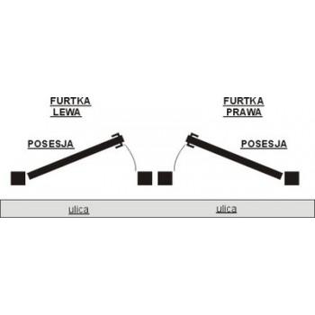 Furtka Ogrodzeniowa Tradycyjna Klasyczna Typ EZ H 1,4m-1,60 m #2