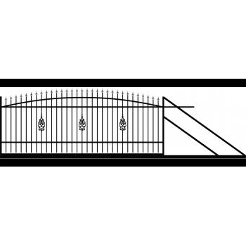 Furtka Ogrodzeniowa Tradycyjna Klasyczna Typ E H1,4-1,60 m #4