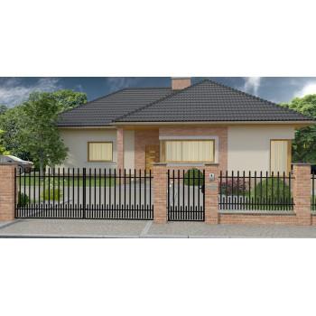 Brama Ogrodzeniowa Skrzydłowa Klasyczna Typ Kpz H-150 cm #5