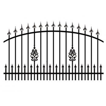 Brama Ogrodzeniowa Skrzydłowa Klasyczna Typ EZ H-140-160 cm #4