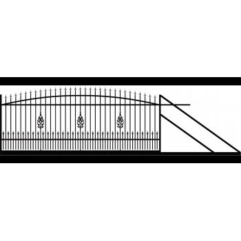Brama Ogrodzeniowa Skrzydłowa Klasyczna Typ EZ H-140-160 cm #5