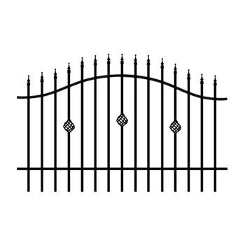 Brama Ogrodzeniowa Skrzydłowa Klasyczna Typ Nikozja H-130-150 cm #4