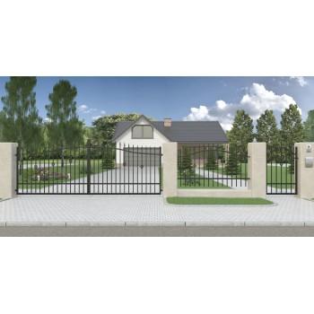 Brama Ogrodzeniowa Skrzydłowa Klasyczna Typ Nikozja H-130-150 cm #6