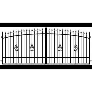 Brama Ogrodzeniowa Skrzydłowa Klasyczna Typ E H-140-160 cm
