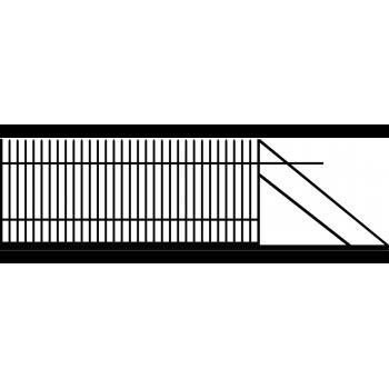 Brama Ogrodzeniowa Przesuwna  Klasyczna Typ K H-150 cm