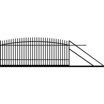 Brama Ogrodzeniowa Przesuwna  Klasyczna Typ KŁ H 145-160 cm