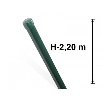 Słupek Ogrodzeniowy Powlekany Ocynk+PCV fi 42mm H-2,2 m