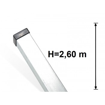 Słupek Ogrodzeniowy Panelowy 60x40 mm Ocynkowany H-2,6 m