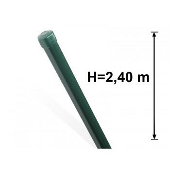 Słupek Ogrodzeniowy Powlekany Ocynk+PCV fi 42mm H-2,4 m