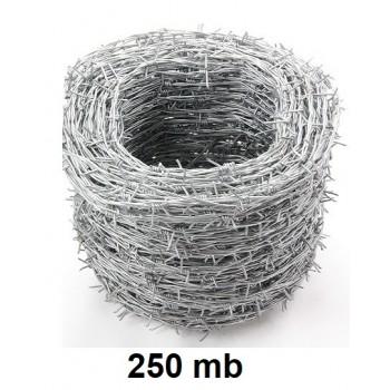 Drut Kolczasty Ocynk 250 Mb