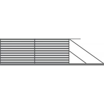 Brama Ogrodzeniowa Przesuwna  Nowoczesna Typ DUBAJ H-154 cm
