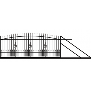 Brama Ogrodzeniowa Przesuwna  Klasyczna Typ EZ H 140-160 cm