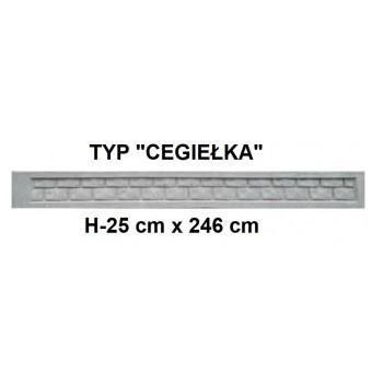Podmurówka Betonowa Systemowa Typ Cegiełka H-25 cm x 246 cm