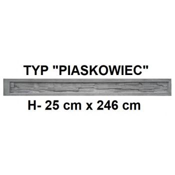 Podmurówka Betonowa Systemowa Typ Piaskowiec H-25 cm x 246 cm