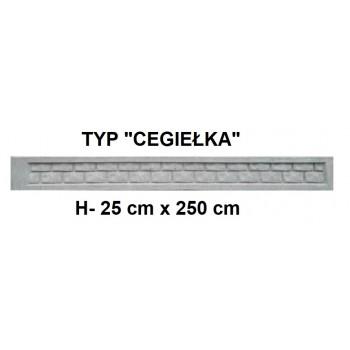 Podmurówka Betonowa Systemowa Typ Cegiełka H-25 cm x 250 cm