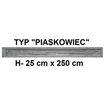 Podmurówka Betonowa Systemowa Typ Piaskowiec H-25 cm x 250 cm
