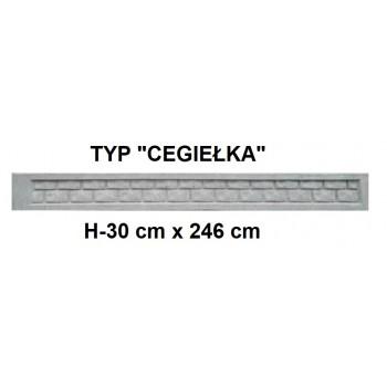 Podmurówka Betonowa Systemowa Typ Cegiełka H-30 cm x 246 cm