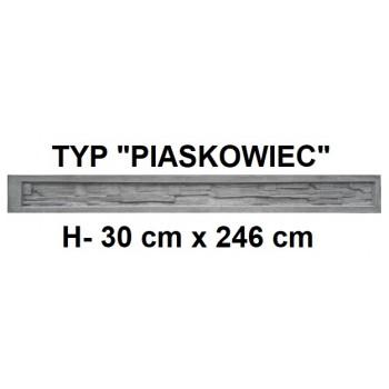 Podmurówka Betonowa Systemowa Typ Piaskowiec H-30 cm x 246 cm