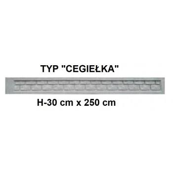 Podmurówka Betonowa Systemowa Typ Cegiełka H-30 cm x 250 cm