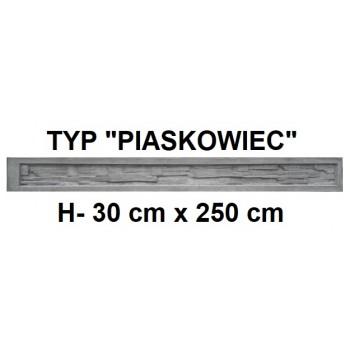 Podmurówka Betonowa Systemowa Typ Piaskowiec H-30 cm x 250 cm