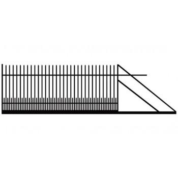 Brama Ogrodzeniowa Przesuwna Klasyczna Typ KPZ H-150 cm