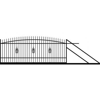 Brama Ogrodzeniowa Przesuwna  Klasyczna Typ E H140-160 cm