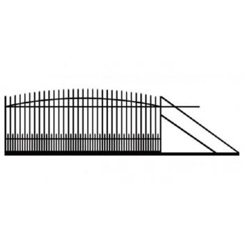 Brama Ogrodzeniowa Przesuwna  Klasyczna Typ KŁZ H 145-160 cm