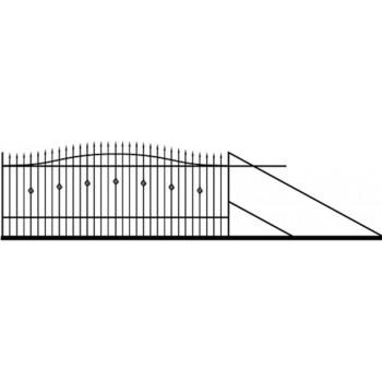 Brama Ogrodzeniowa Przesuwna  Klasyczna Typ Nikozja H130-150 cm