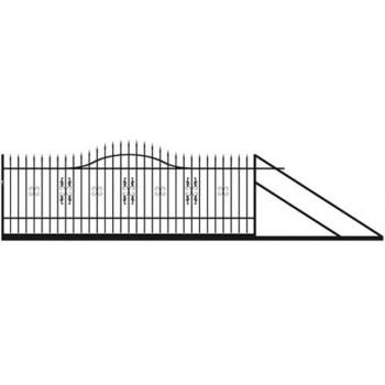 Brama Ogrodzeniowa Przesuwna  Klasyczna Typ MILORD H 120-150 cm
