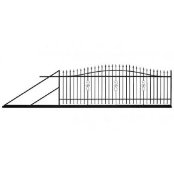 Brama Ogrodzeniowa Przesuwna  Klasyczna Typ Tunis H130-150 cm