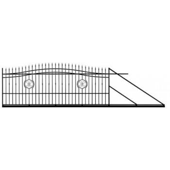 Brama Ogrodzeniowa Przesuwna  Klasyczna Typ Monako H140-160 cm