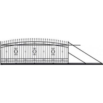 Brama Ogrodzeniowa Przesuwna  Klasyczna Typ WENECJA  H 140-160 cm