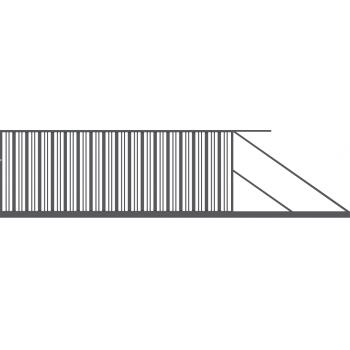 Brama Ogrodzeniowa Przesuwna  Nowoczesna Typ SEUL H-150 cm