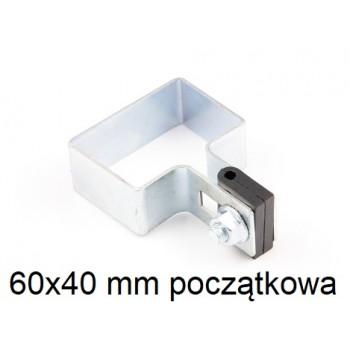 Obejma Panelowa Początkowa 60x40 mm Ocynkowana